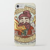 bible iPhone & iPod Cases featuring Burn The Lad Bible by Roseanna Hanson