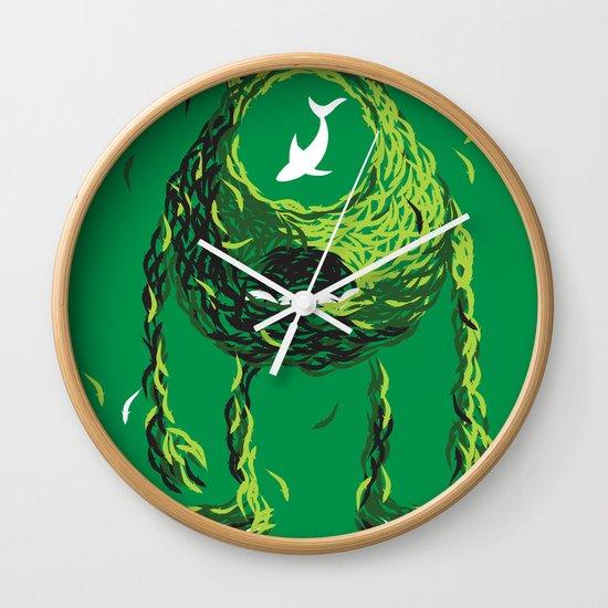 Wazowski of Fish Wall Clock