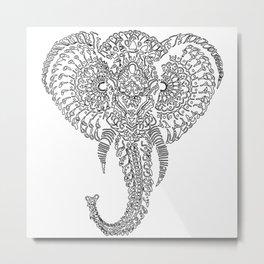 The Elephant Mask Metal Print