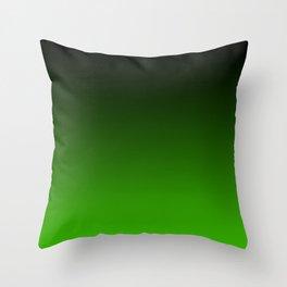 Black and Grass Green Gradient 055 Throw Pillow