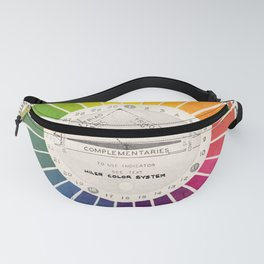 Vintage Color Wheel - Art Teaching Tool - Rainbow Mood Chart Fanny Pack