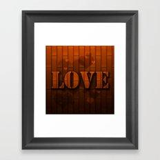 LOVE!  Framed Art Print