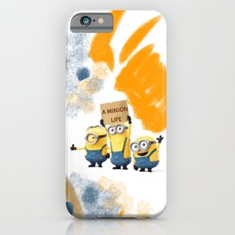 A MINION LIFE iPhone Case