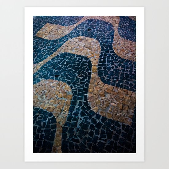 Waves in the ground Art Print