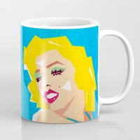 pop art Mugs featuring pop art  by mark ashkenazi