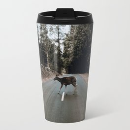 Deer Crossing / Yosemite, California Travel Mug