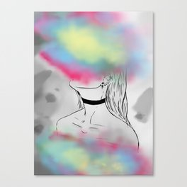 Destroy Yourself To See Who Cares Canvas Print