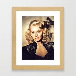 Carole Landis, Movie Legend Framed Art Print