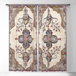 Khoy  Antique Azerbaijan Persian Rug Print Blackout Curtain