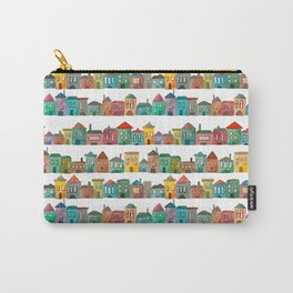 Watercolor Town Carry-All Pouch