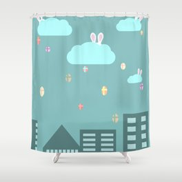 Easter town Shower Curtain