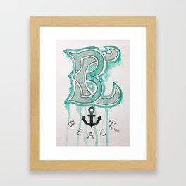 BC Beach Framed Art Print