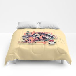 Beautiful and Modern Floral Hope Quote Print Comforters