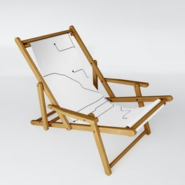 Chicago Subway White Map Sling Chair