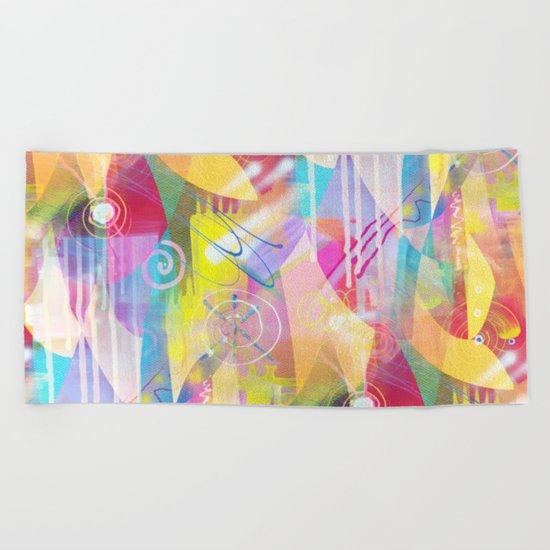 Summer Chaos Painted Beach Towel