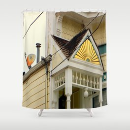 Vintage Gingerbread And Less Vintage Dish Shower Curtain