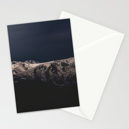 Dreamy sunset on the mountain top Stationery Cards