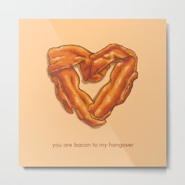 Bacon Valentine Metal Print