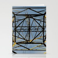 the wire Stationery Cards featuring Metal Wire by Lia Bernini