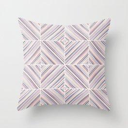 Herringbone Diamonds - Mauve Throw Pillow