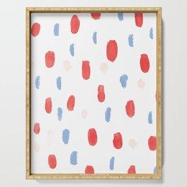 Painted Polka Dots Serving Tray