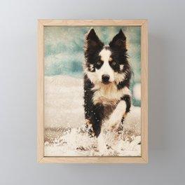 The Best Friends - Snow's Border Framed Mini Art Print