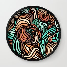 Swirl Design Wall Clock