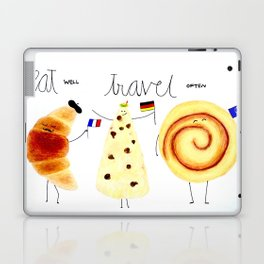 eat and travel Laptop & iPad Skin