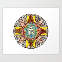 Zen and Feathers Art Print