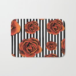 Pin Striped Romance Bath Mat