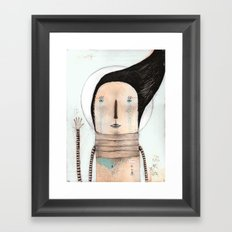 Letting go doesn't mean giving up... it means moving on.  Framed Art Print
