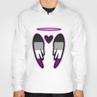 asexual Hoodies featuring Asexual Angel by Nephylim9