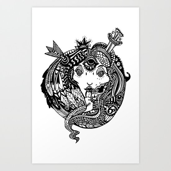 Snakes and Arrows Art Print