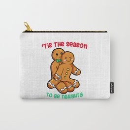 Naughty Gingerbread Couple Christmas Present funny Carry-All Pouch