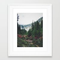 Framed Art Prints featuring Mountain Trails by Kurt Rahn