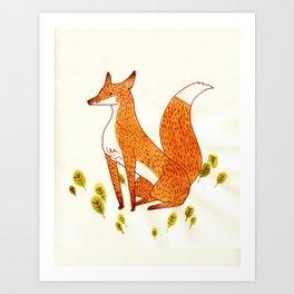 Noble Fox Art Print