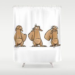 See No, Hear No, Say No Bob Shower Curtain
