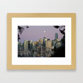 A Glimpse of Vancouver Framed Art Print