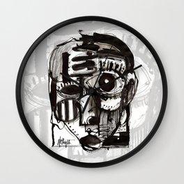 Reflection - b&w Wall Clock