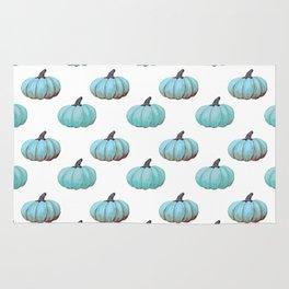 Teal pumpkins, Thanksgiving, alternative, fall Rug