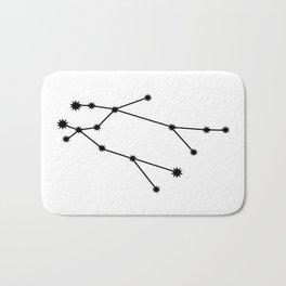 Gemini Astrology Star Sign Minimal Bath Mat