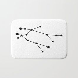 Gemini Star Sign Black & White Bath Mat