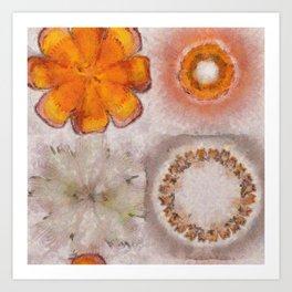 Hemiglobin Weave Flowers  ID:16165-071146-77360 Art Print
