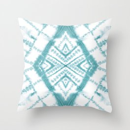 Dye Diamond Sea Salt Throw Pillow