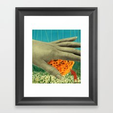wake up and smell the flowers Framed Art Print