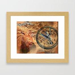 Hummingbird Watch Collage Framed Art Print