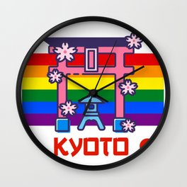 Kyoto Japan Lgbt Pride gay pride season rainbow  Wall Clock