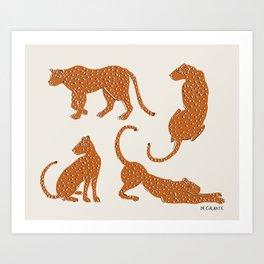 Leopard Block Party Art Print