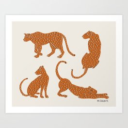Leopard Block Party Art Print