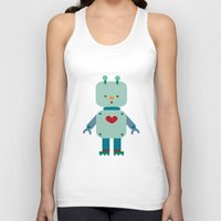 robot Tank Tops featuring Robot by Milanesa